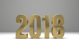2018 happy new year 3d render. Graphic Stock Image