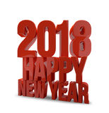 2018 happy new year 3d render. Graphic Stock Photos