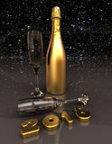 Happy new year 2018. 3D render image representing Happy new year 2018 Royalty Free Stock Photos