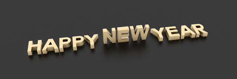 Happy New Year 3d render. Ing Royalty Free Stock Photos