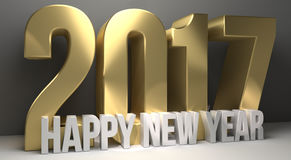 2017 happy new year 3d render sylvester Stock Photo