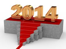 Happy New Year 2014. 3D Render of 2013 to 2014 vector illustration
