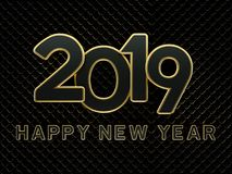 New Year 2019 - 3D Rendered Image. Happy New Year 2019 - 3D Rendered Image Design Stock Image