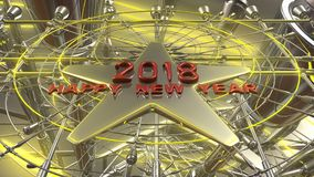 Happy New Year 3d rendering. 2018 Happy New Year 3d rendering Royalty Free Stock Photo