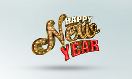 Happy New Year, 3d rendering. Eps10 illustration royalty free illustration