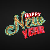 Happy New Year, 3d rendering. Eps10 illustration Stock Image