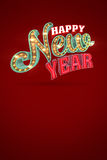 Happy New Year, 3d rendering. Eps10 illustration Royalty Free Stock Images