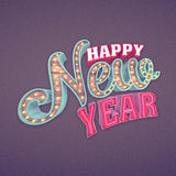 Happy New Year, 3d rendering. Eps10 illustration Royalty Free Stock Photo