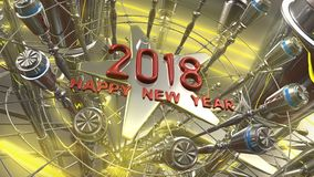 Happy New Year 3d rendering. 2018 Happy New Year 3d rendering Royalty Free Stock Photography