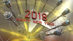 Happy New Year 3d rendering. 2018 Happy New Year 3d rendering Stock Photo