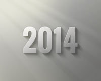 Happy New Year 2014. 3D text Happy New Year 2014 stock illustration