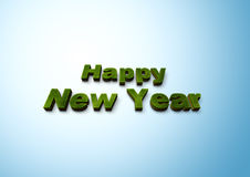 Happy New Year. 3D happy new year text Royalty Free Stock Photography
