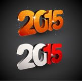 Happy new year 2015. 3d text 2015 happy new year design. Vector illustration Royalty Free Stock Photos