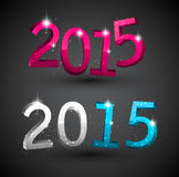 Happy new year 2015. 3d text 2015 happy new year design. Vector illustration Stock Image