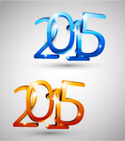 Happy new year 2015. 3d text 2015 happy new year design. Vector illustration Stock Photography