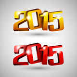 Happy new year 2015. 3d text 2015 happy new year design. Vector illustration Stock Photo