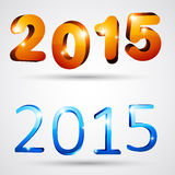 Happy new year 2015. 3d text 2015 happy new year design. Vector illustration Stock Images