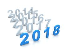 Happy new year. 2018 3d text Vector Illustration