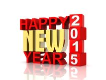 Happy New Year 2015 3d Text Stock Photo