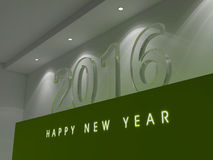 Happy New Year 2016. 3D Text Render background Stock Photo