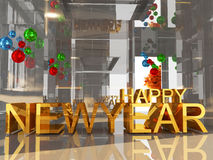 Happy new year 3D text Stock Photos