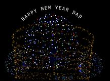Happy New Year dad. Illustration Royalty Free Stock Photos