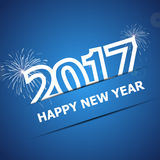 2017 Happy New Year on dark blue background. Stock vector Royalty Free Stock Photo