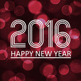Happy new year 2016 on dark bokeh circle background eps10. Happy new year 2016 on dark bokeh circle background Stock Image