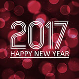 Happy new year 2017 on dark bokeh circle background eps10 Royalty Free Stock Photography