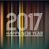 Happy new year 2017 on dark color night lines background eps10 Stock Photos
