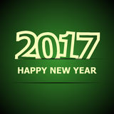 2017 Happy New Year on dark green background Royalty Free Stock Image