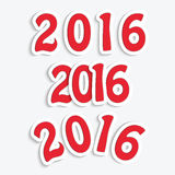 Happy new year 2016. 2016 New Year date for your design.Happy new year 2016 Stock Photography