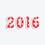 Happy new year 2016. 2016 New Year date for your design.Happy new year 2016 stock illustration