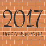 2017 Happy New Year day. 2017 Happy New Year day Stock Photos