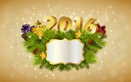 Happy New Year for 2016 decoration billboard. Illustration of Happy New Year for 2016 decoration billboard Stock Photo