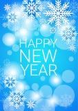 Happy New Year Decoration Celebration Banner. Flat Vector Illustration royalty free illustration