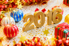Happy new year 2016 decoration Stock Photography
