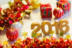 Happy new year 2016 decoration Royalty Free Stock Images