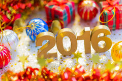 Happy new year 2016 decoration Stock Images