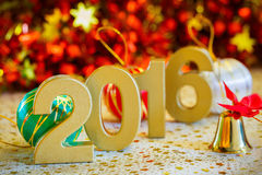 Happy new year 2016 decoration close up Stock Photos