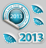 Happy New Year decoration elements stock illustration