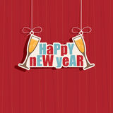 Happy new year decoration Stock Images