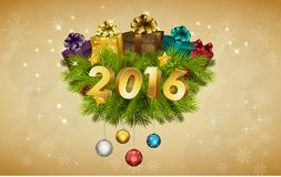 Happy New Year for 2016 decoration. Illustration of Happy New Year for 2016 decoration Stock Photography