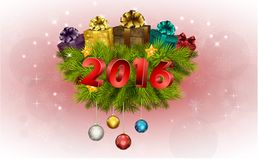 Happy New Year for 2016 decoration. Illustration of Happy New Year for 2016 decoration Royalty Free Stock Photography