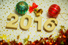 Happy new year 2016 decoration Stock Photos