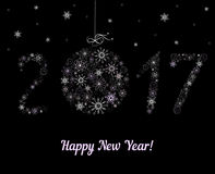 Happy New Year  2017 decoration. Happy New Year 2017 decoration. Vector Stock Photography