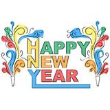 Happy new year decorative design Stock Images