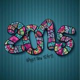 Happy New Year 2015. Decorative hand drawn numbers Stock Photo