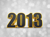 Happy New Year. 2013 , defocused background vector illustration
