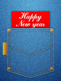 Happy new year denim Royalty Free Stock Photo